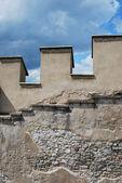 Medieval stone battlement — Stock Photo