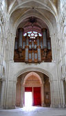 Baroque organ in the Cathedral of Reims, France — Stock Photo