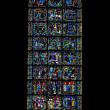 Gospel window of Chartres cathedral, France — Stock Photo