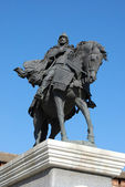 The monument to the famous Russian hero Dmitry Donskoy in Kolomn — ストック写真