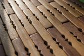 Wooden mat, macro — Stock Photo
