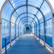 Tunnel structure, steel and glass — Stock Photo