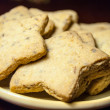 Shortbread stars on plate — Stock Photo #29826733