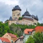 Karlstejn castle on green hill, Prague — Stock Photo #29826937