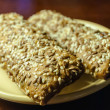 Stock Photo: Two sereal bars on a plate
