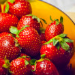 Red ripe strawberries — Stockfoto