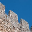 Medieval stone battlement — Stock Photo