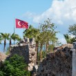 Flag of Turkey in town of Side — Stock Photo