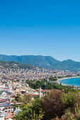 Alanya cityscape seen from hill — Stock Photo