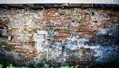 Eski tuğla duvar — Stok fotoğraf