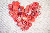 Heart of red buttons — Stockfoto