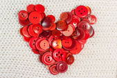 Heart of red buttons — 图库照片