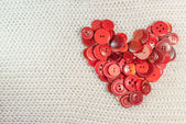 Heart of red buttons — Stock Photo