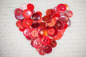 Heart of red buttons — Stock fotografie
