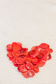 Heart of red buttons — Foto de Stock