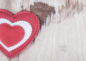 Heart on wood — Foto Stock