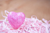 Heart in basket — Stock fotografie