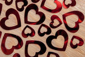 Many glittering hearts — Stock Photo