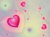 Fundo com corações — Foto Stock