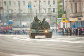 Moscow Victory Parade Rehearsal — Stock Photo