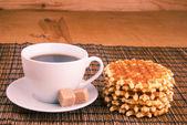 Weiße tasse kaffee — Stockfoto