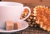 белая чашка кофею — Стоковое фото