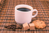 Branca xícara de café — Foto Stock