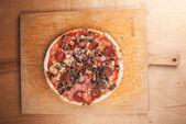 Pizza zbliżenie — Zdjęcie stockowe