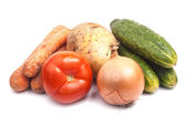 Summer vegetables on white background — Foto de Stock