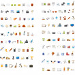 100 Universal Icons. Simplus series. Each icon is a single object (compound path) - Stock Photo