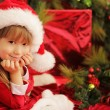 Christmas cute little girl — Stockfoto