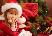 Christmas cute little girl — Foto Stock