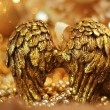 Golden angel  wings — Stock Photo