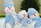 Summer snowmen — Stock Photo