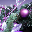 Christmas firtree with decoration — Stock Photo