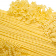 Certain Types of Raw Pastas — Stock Photo