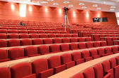Empty Lecture Hall With Cameras — Stockfoto