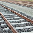 Stock Photo: Parallel Railway Tracks