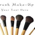 Makeup brush set isolated — Stock Photo #31252593