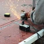 Hand metal sawing — Stock Photo #31272139