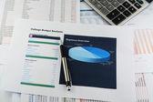 College budget sheet — Stock Photo