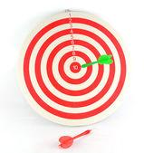Flechas de dardos en el blanco — Foto de Stock