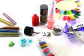 Glitter for nail polish — Stock Photo