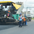 Road paving construction  — 图库照片