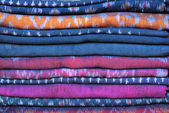 Assortment sarongs for sale — Stock Photo