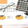 Business chart report — Stock Photo