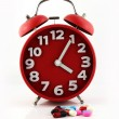 Clock and pills , for healthcare, medicine — Stock Photo