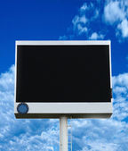 Black LED Billboards space. — Stock Photo