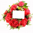Stock Photo: Photo frame and flowers