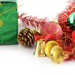 Golden bells christmas decoration — Stock Photo